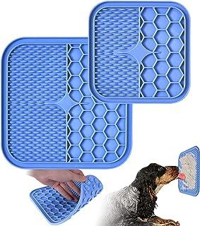 تشک لیسیدن سگ ، تشک لیسیدن 2 عدد برای سگ ها (بزرگ: 8.2 × 8.2 اینچ ، کوچک: 6 × 6 اینچ) ، دستگاه حواس پرتی سشوار با سوپر مکش برای حمام حیوانات خانگی ، نظافت و غیره ، کاهش بی حوصلگی