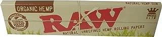 5冊セット RAW natural unrefined hemp rolling papers KINGSIZE SLIM ロウ オーガニックヘンプペーパー キングサイズスリム タバコペーパー 巻紙 [並行輸入品]