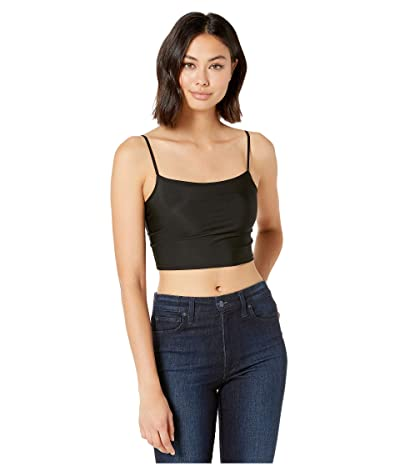 Only Hearts Second Skin Cropped Cami (Black) Women