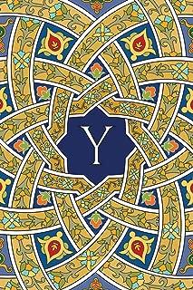 Monogram Y Notebook: Blank Journal Diary Memoir Log Logue (Arabesque Three 150 Notebook)