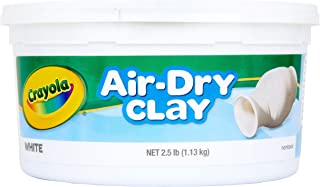 CRAYOLA 575050 1.13kg Air Dry Clay, White Colour, Sculpt, Model, Design, Easy to Use, Great for Art Projects!