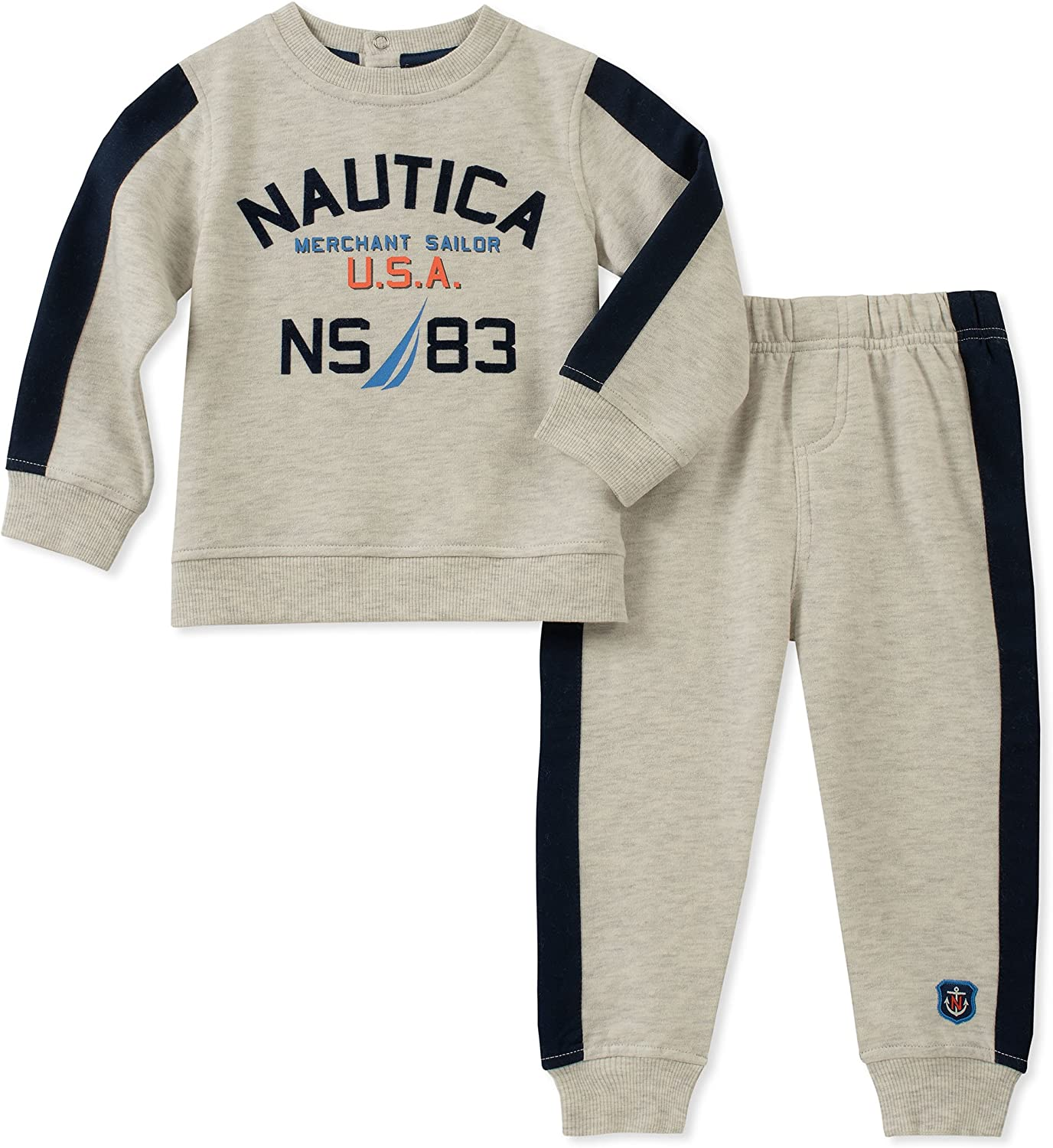 KHQ Nautica Sets Baby Boys 2 Pieces Hooded Pullover Pants Set