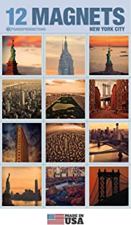 Set of 12 New York Refrigerator Magnets In Elegant Packaging Inside Crystal Clear Bag. Style 12S-3. Our Fridge Magnets are Made In USA.