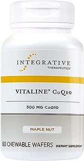 Integrative Therapeutics - Vitaline CoQ10-300 mg CoQ10 - Supports Heart & Brain Health - Maple Nut Flavor - 60 Chewable Wafers
