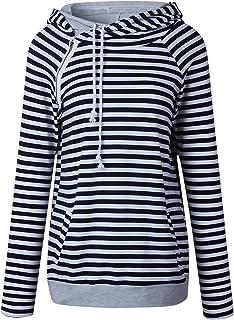 7TECH Stripe Panel Hoodie Sweater, Blue
