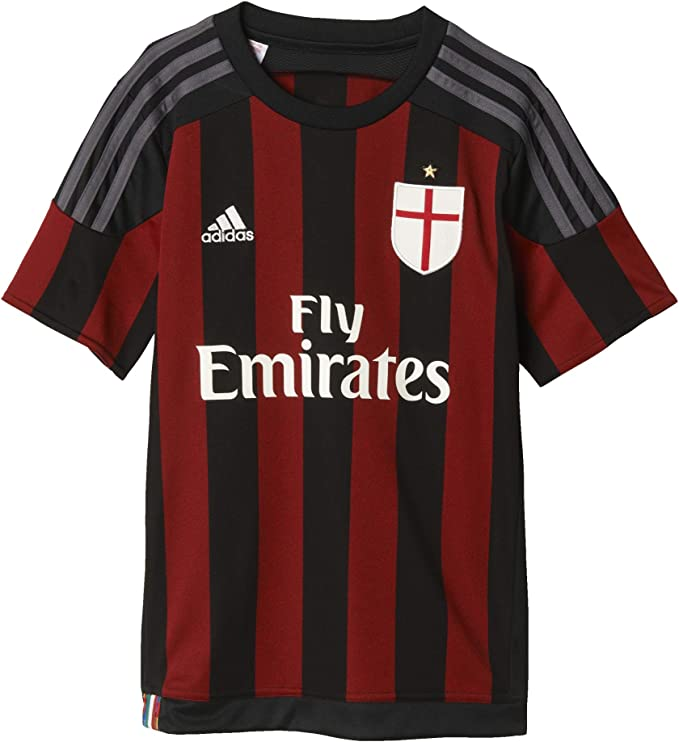 adidas Trikot AC Milan Home Maglia a Maniche Corte. Bambino