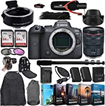 Canon EOS R6 Mirrorless Digital Camera with RF 24-105mm f/4L is USM Lens and Mount Adapter EF-EOS R Bundle + Deluxe Access...