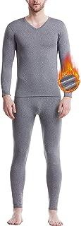 Men's Thermal Underwear Set Microfiber Fleece Long Johns Winter Base Layer Top and Bottom