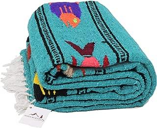 Open Road Goods Thick Mexican Yoga Blanket - Serape Fish Design - Handmade