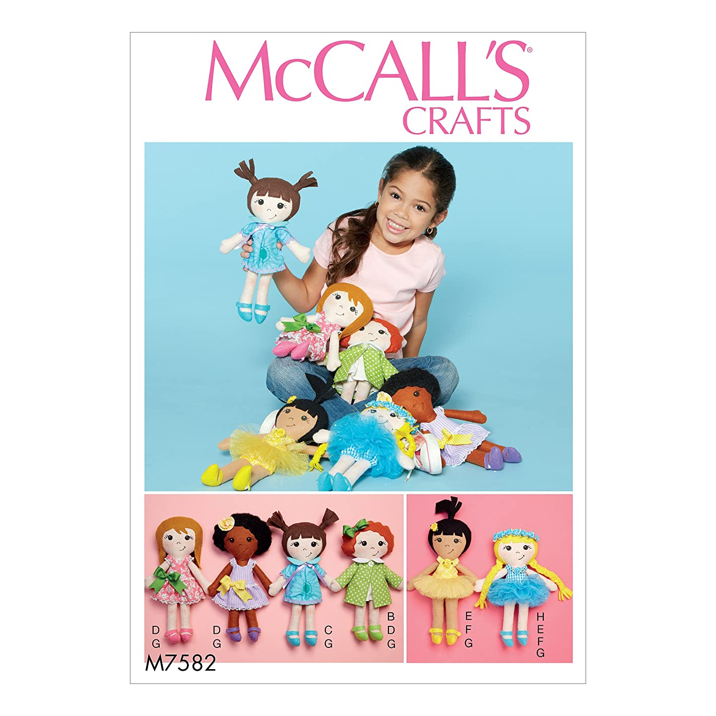 McCall's Patterns M7582OSZ Doll and Clothes