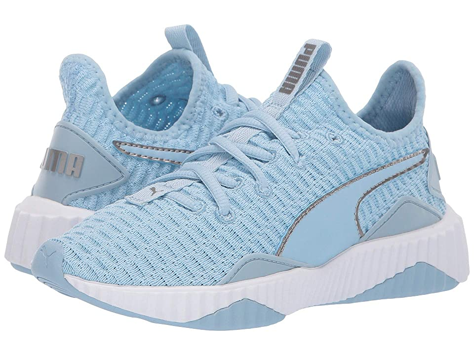 Puma Kids Defy (Little Kid/Big Kid) (Cerulean/Puma White/Silver) Girl