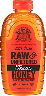 Nature Nate's 100% Pure, Raw & Unfiltered Texas Honey; 32oz. Squeeze Bottle; Made in Texas