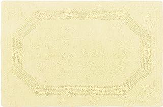 Laura Ashley Reversible Cotton 17 x 24 in. Bath Mat, Yellow