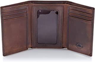 Trifold Leather Wallet for Men with RFID Blocking