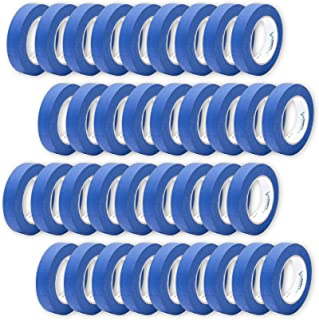 36 Rolls 0.94 Inch Blue Painters Tape Bulk Pack, Medium Adhesive That Sticks Well but Leaves No Residue Behind, 60 Yards Length, 36 Rolls, 2160 Total Yards
