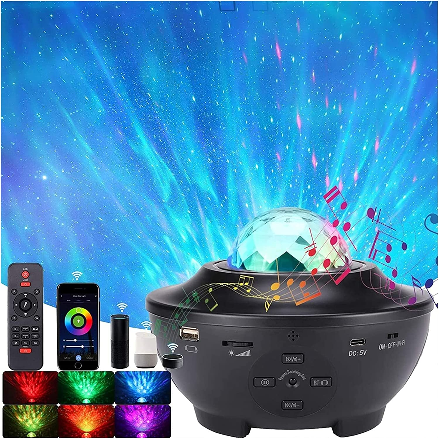 Star Projector Night Cheap super special price Light Sky Ocean Starry New popularity Wave