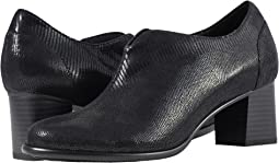Black Soft Lizard Embossed Patent Suede