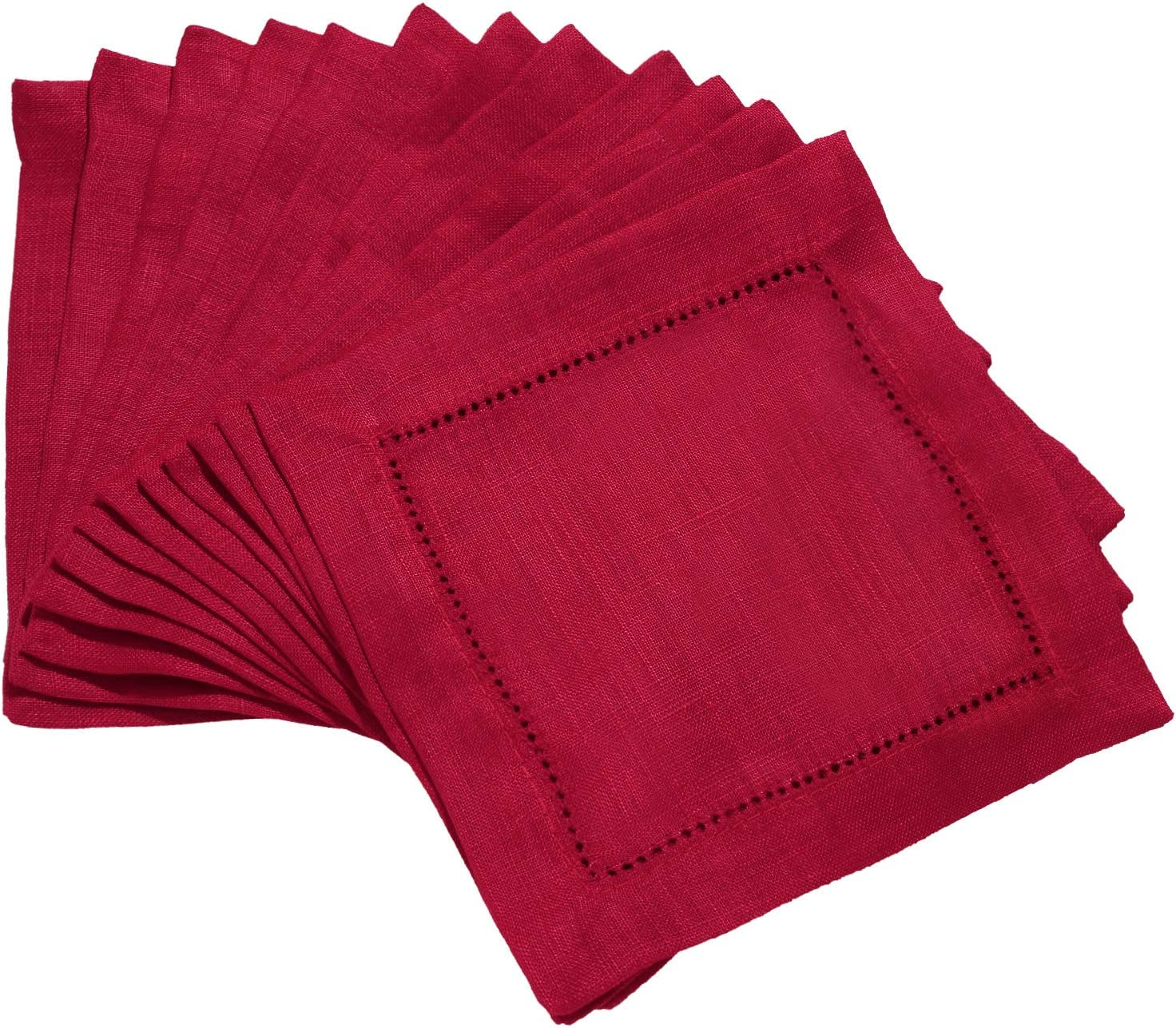 MingHing Craft 12 Packs Cocktail Napkins Inch Quantity limited 6 Soft X Gifts Washabl