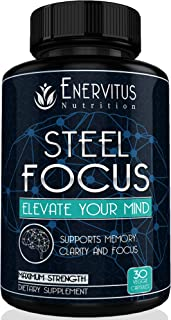 Super Strength Natural Brain Booster Nootropic Supplement with Free Bonus to Support Focus, Energy, Memory & Mental Clarity - High Quality Ingredients, St. John's Wort, Ginkgo Biloba & More.