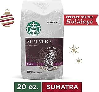 Starbucks Sumatra Dark Roast Ground Coffee, 20 Oz. Bag   Great Holiday Gift for Coffee Lovers