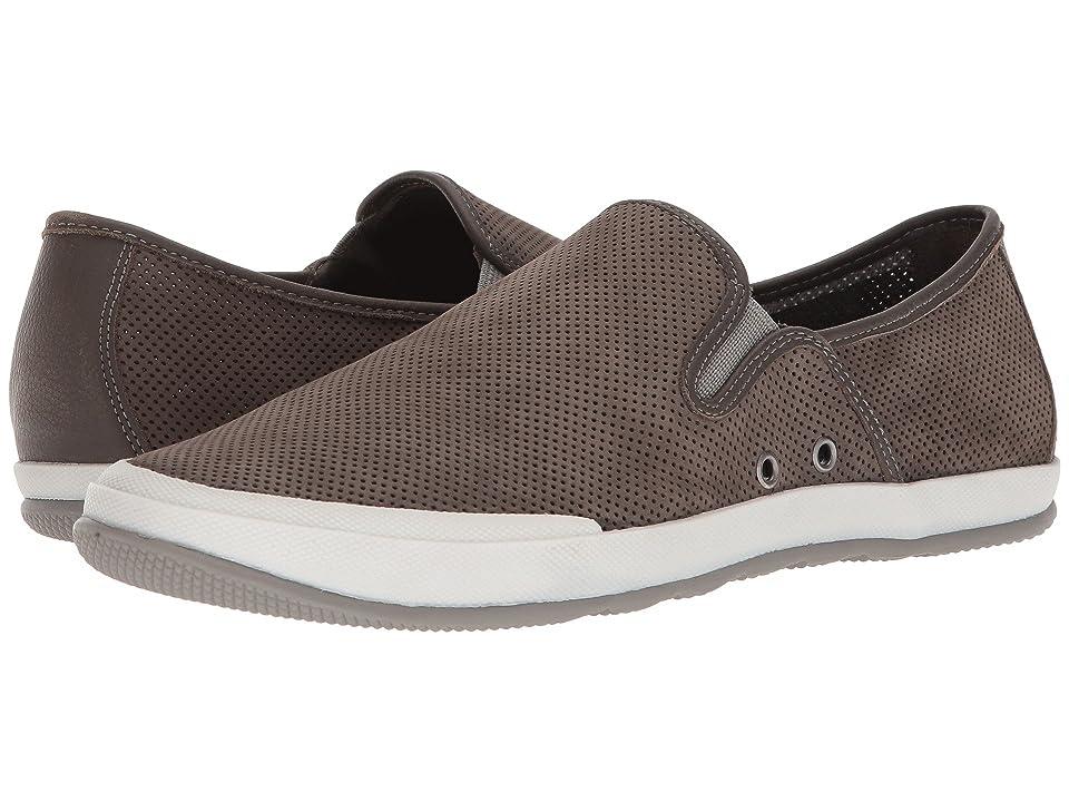 Johnston & Murphy Mullen Slip-On Sneaker (Gray Perfed Nubuck) Men