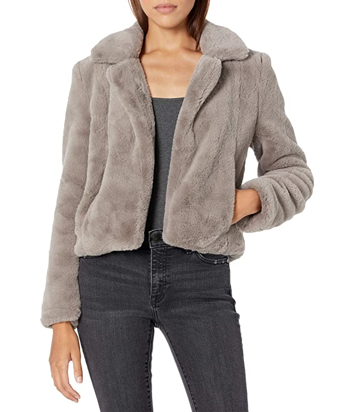 1930s Style Coats, Jackets | Art Deco Outerwear Blank NYC Faux Fur Jacket To The Moon Womens Coat $61.29 AT vintagedancer.com