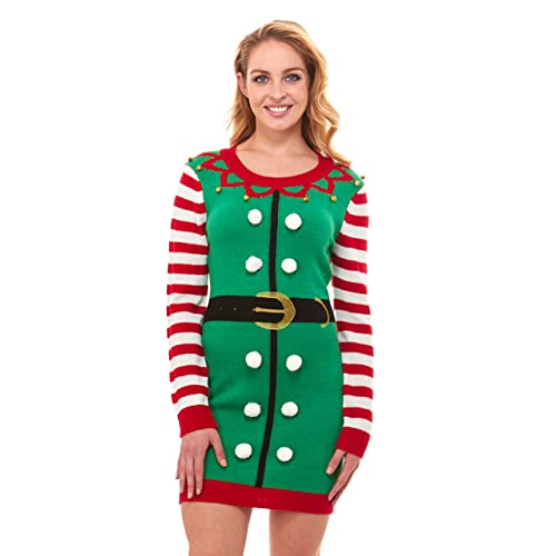 0459e8bac1 Just One Ugly Christmas Sweater Dress Xmas for Women Cute (Reg and Plus  Size)