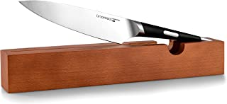 Linoroso Chef Knife - 7'' Kitchen Knife Ultra Sharp Chefs Knife with Oak Knife Tray, Best Quality German High Carbon Stainless Steel knife, Best Choice for Home Kitchen and Restaurant - MAKO Series