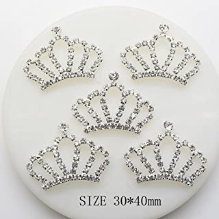 20pcs 30x40mm Imperial Crown Crystal Shape Christmas Buttons Acrylic Embellishment Rhinestone Button DIY Accessories