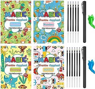 Creative Large Magic Practice Copybooks for Kids, 4 Pcs Reusable Magic Ink Handwriting Workbooks Preschoolers, Print Book ...