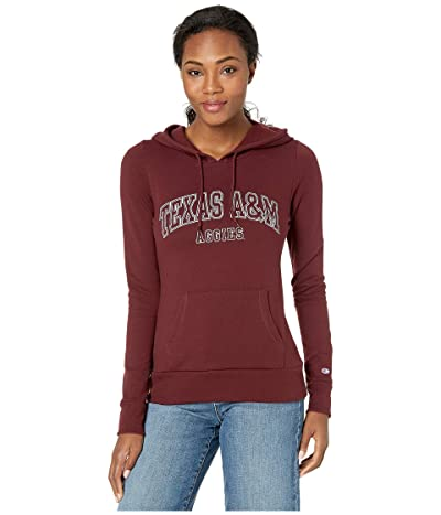 Champion College Texas AM Aggies Eco University Fleece Hoodie (Maroon 3) Women