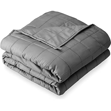 Quility Premium Adult Weighted Blanket /& Removable Cover Full Size Bed Grey//Chevron Print Color 20 lbs for Individual Between 190-240 lbs Cotton//Minky Premium Glass Beads 60x80
