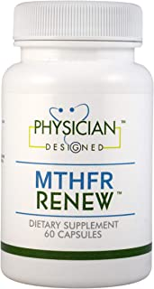 PHYSICIAN DESIGNED MTHFR Renew Supplement - Best Active B-Complex Dietary Supplements with Optimized Activated 5-MTHF, 60 ...