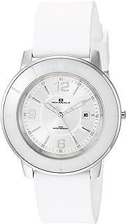 Oceanaut Women's Satin Stainless Steel Quartz Silicone Strap, White, 18 Casual Watch (Model: OC0810)