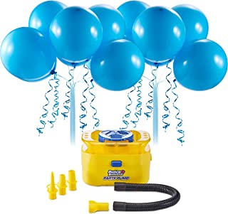 Bunch O Balloons Portable Party Balloon Electric Air Pump Starter Pack (Includes 16x 11 Inch Self-Sealing Blue Latex Balloons) by ZURU