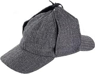 Sherlock Holmes Hat - Detective Hat - Deerstalker Hat - Tweed Sherlock Holmes Hat