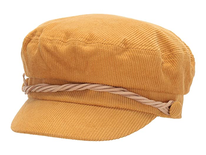 1960s -1970s Men's Clothing San Diego Hat Company CTH8163 Cord Fisherman Cap with Faux Suede Trim Mustard Caps $50.04 AT vintagedancer.com