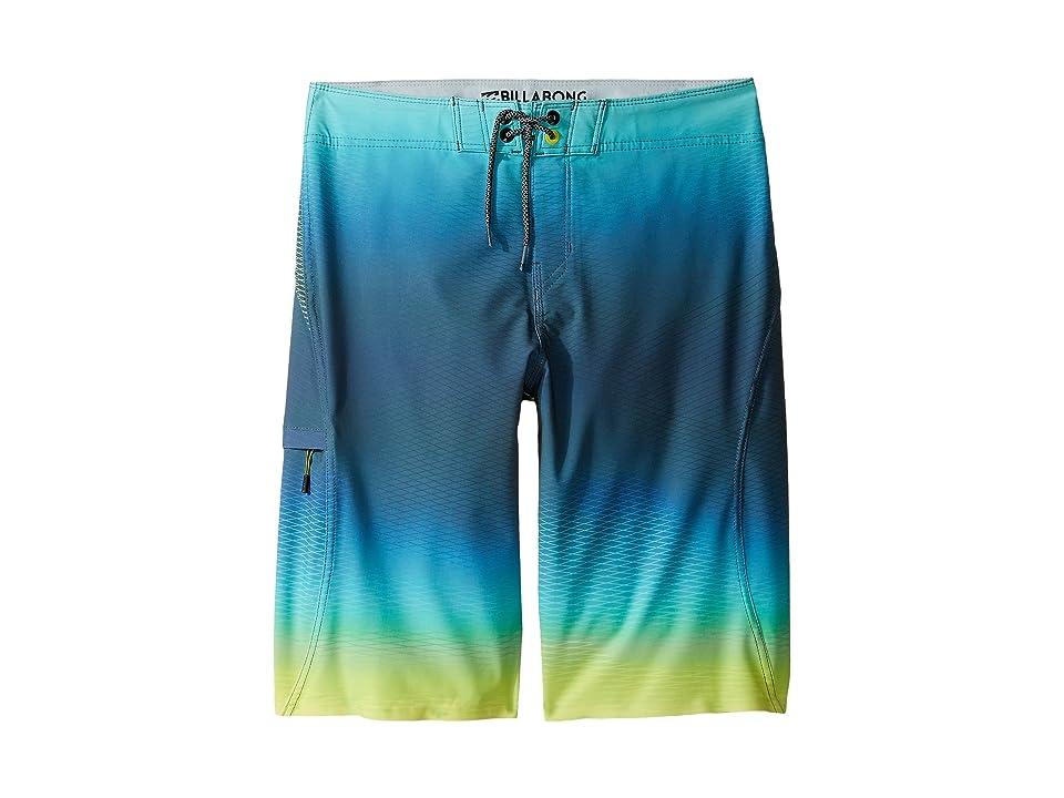 Billabong Kids Fluid X Boardshorts (Big Kids) (Lime) Boy