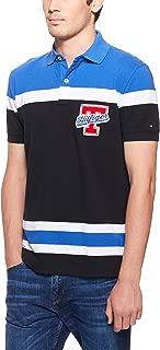 Tommy Hilfiger Men's Colour-Blocked Regular Fit Polo Shirt, Jet Black/Multi