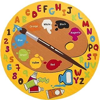 Mybecca Kids Rug Kids ABC Little Artist Area Rug Educational Alphabet Letter & Numbers (7' 6