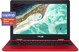 "ASUS C223NA-DH02-RD Chromebook 11.6""、IntelデュアルコアCeleron N3350プロセッサ(最大2.4GHz)4GB RAM、32GB eMMCストレージ、赤"