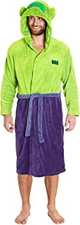 MARVEL Mens Dressing Gown, Fluffy Fleece Dressing Gowns with Avengers Superhero Hulk or Captain America, Super Soft Comfy ...
