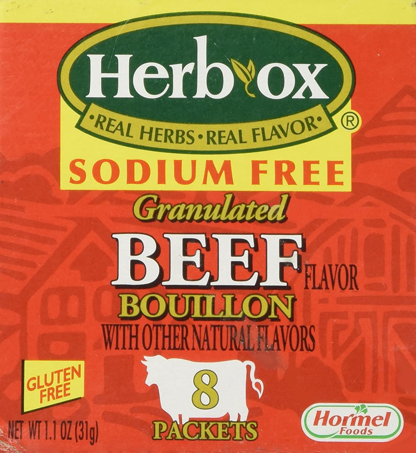 Herb-Ox Bouillon Save money Packets Beef Instant Sodium Broth Max 72% OFF F Seasoning