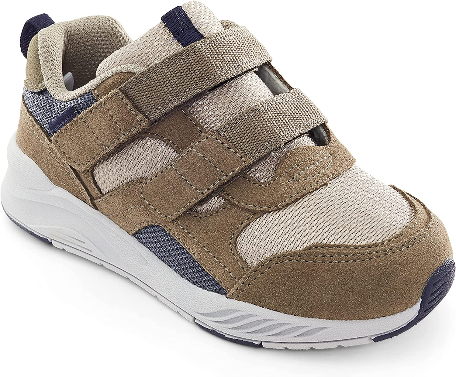 Stride Rite Boy's Made2Play Brighton-Adaptable Athletic Sneaker, Taupe, 13.5 X-Wide Little Kid