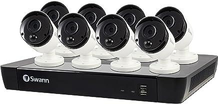 Swann SWNVK-1685808-AU NVR16-8580 4K / 2TB / 8 x NHD-885MSB 4K True Detect White Bullet Cameras w Audio