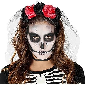 Guirca Rudy Diadema Rose Halloween Mujer, Color Rojo/Negro, 1 ...