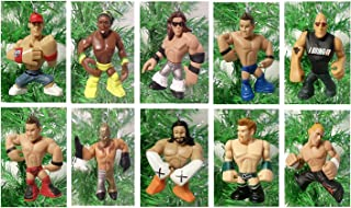 WWE Wrestling Set of 10 Wrestler Holiday Christmas Tree Ornaments Featuring RANDOM 2