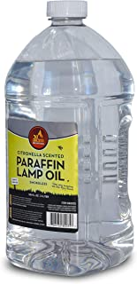 Citronella Scented Lamp Oil, 3 Liter - Smokeless and Odorless Insect and Mosquito Repellent Paraffin Lamp Oil for Indoor and Outdoor Lanterns, Torches, Oil Candle - by Ner Mitzvah