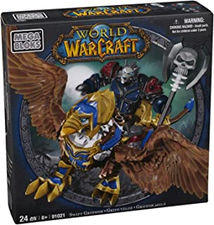 Mega Bloks World of Warcraft Swift Gryphon and Graven (Alliance Wargen Death Knight)