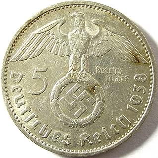 1938 DE Reichsmark 5 mark Extremely Fine